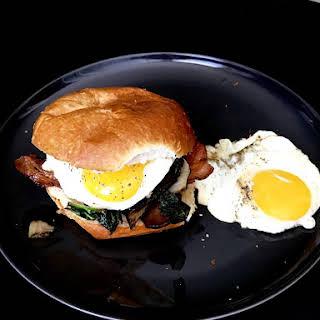 Kale & Eggs Breakfast Sandwich.