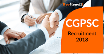 CGPSC Recuritment for State Service Exam 2018
