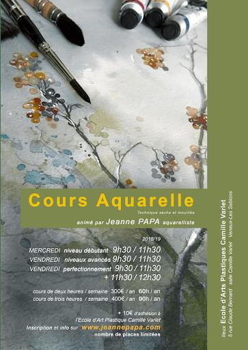 jeanne PAPA_cours aquarelles 2018 flyer