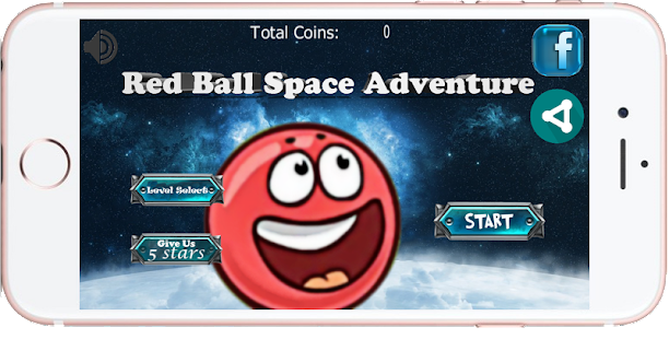 Red Ball Space Adventure 2 - náhled