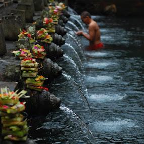 Purification by Yande Ardana - Landscapes Travel ( bali, tirtaempul, tampaksiring, purification )
