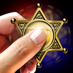 Police hand spinner simulator Icon