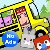 Preschool Bus: Toddler Games Free for 2 Year Olds