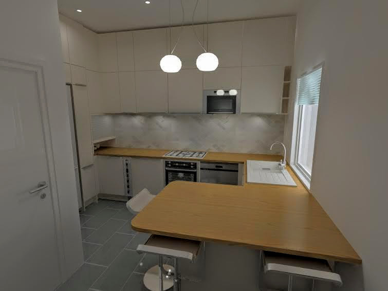 Our first kitchen render