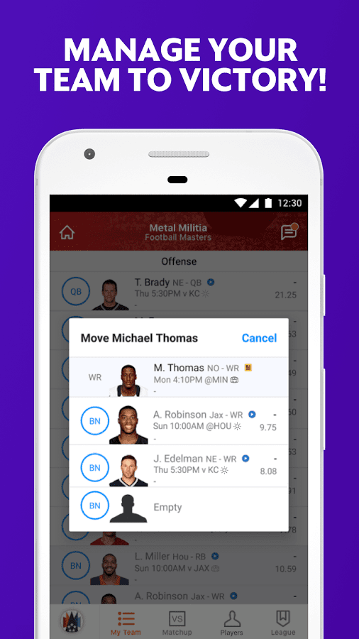 Fantasy NFL, MLB, NBA & NHL- screenshot