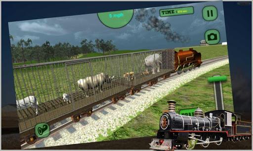 動物の列車の輸送