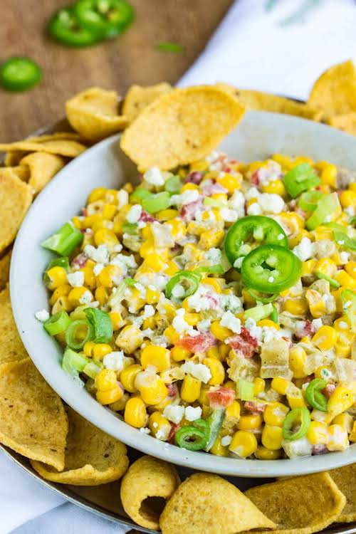 """Mexican Street Corn Dip Recipe """"This is the ideal dip to serve..."""