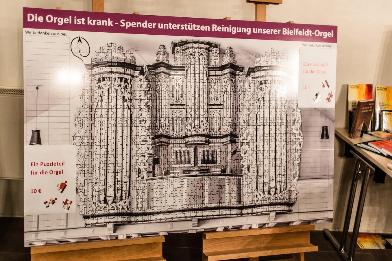 Orgel-Puzzle in der Willehadi-Kirche