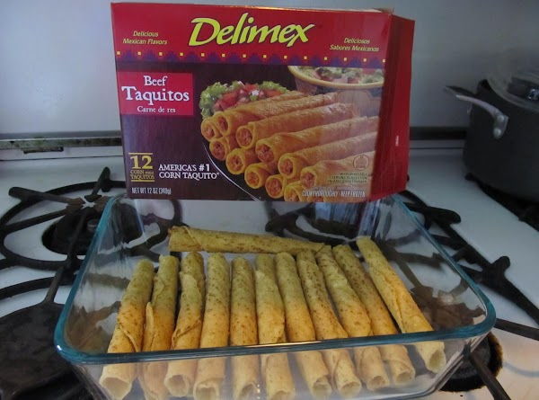 Place taquitos in a single layer over the sauce.  NOTE: When I used the whole...