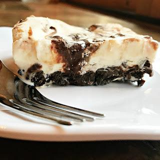 White Chocolate Peppermint Bark Ice Cream Cake.