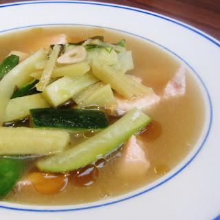 Salmon Miso Soup.