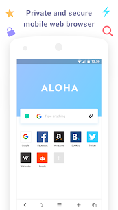 Aloha Browser Lite – Private browser and free VPN App Latest Version Download For Android and iPhone 1