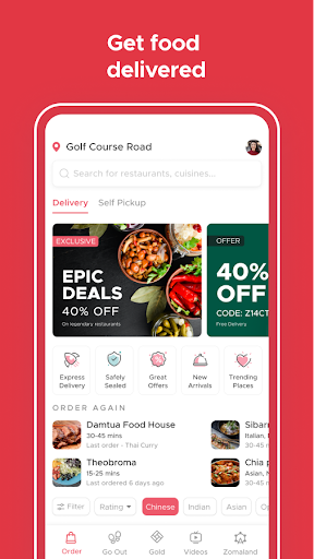 Zomato - Restaurant Finder and Food Delivery App screenshot 5