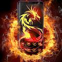 Dragon Theme Cool Fire Tattoo icon
