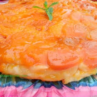 Apricot Tart Tatin.