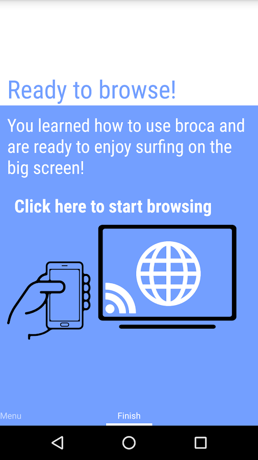 broca : Browser Cast- screenshot