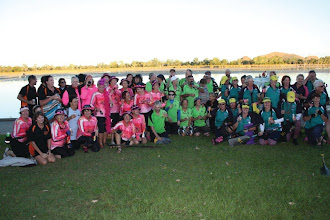 Photo: Some of the others who paddled with us  photo by: Ave Gassman of the Kununurra Dragon Boat Club