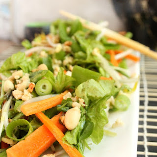 Healthy Raw Asian Fusion Salad