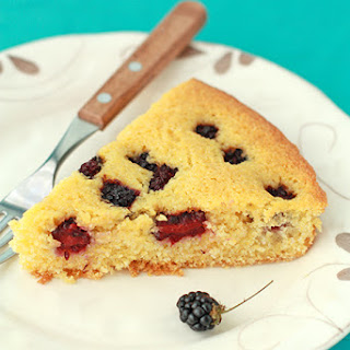 Blackerry Cornmeal Cake