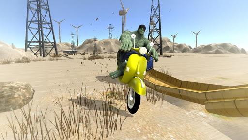 Super Hero Bike Mega Ramp - Racing Simulator  screenshots 3