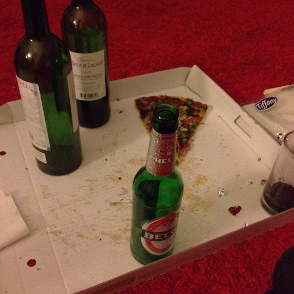 Photo: pizza + beer