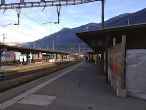 Photo: Martigny station