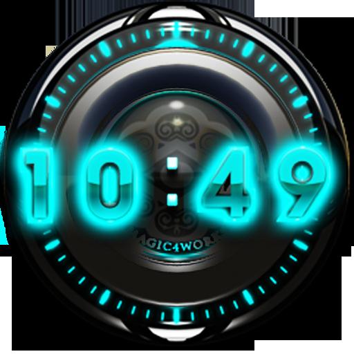 T Glow Digital Clock Widget
