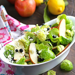Brussles Sprouts Salad with Apples, Blueberries & Lemon Vinaigrette