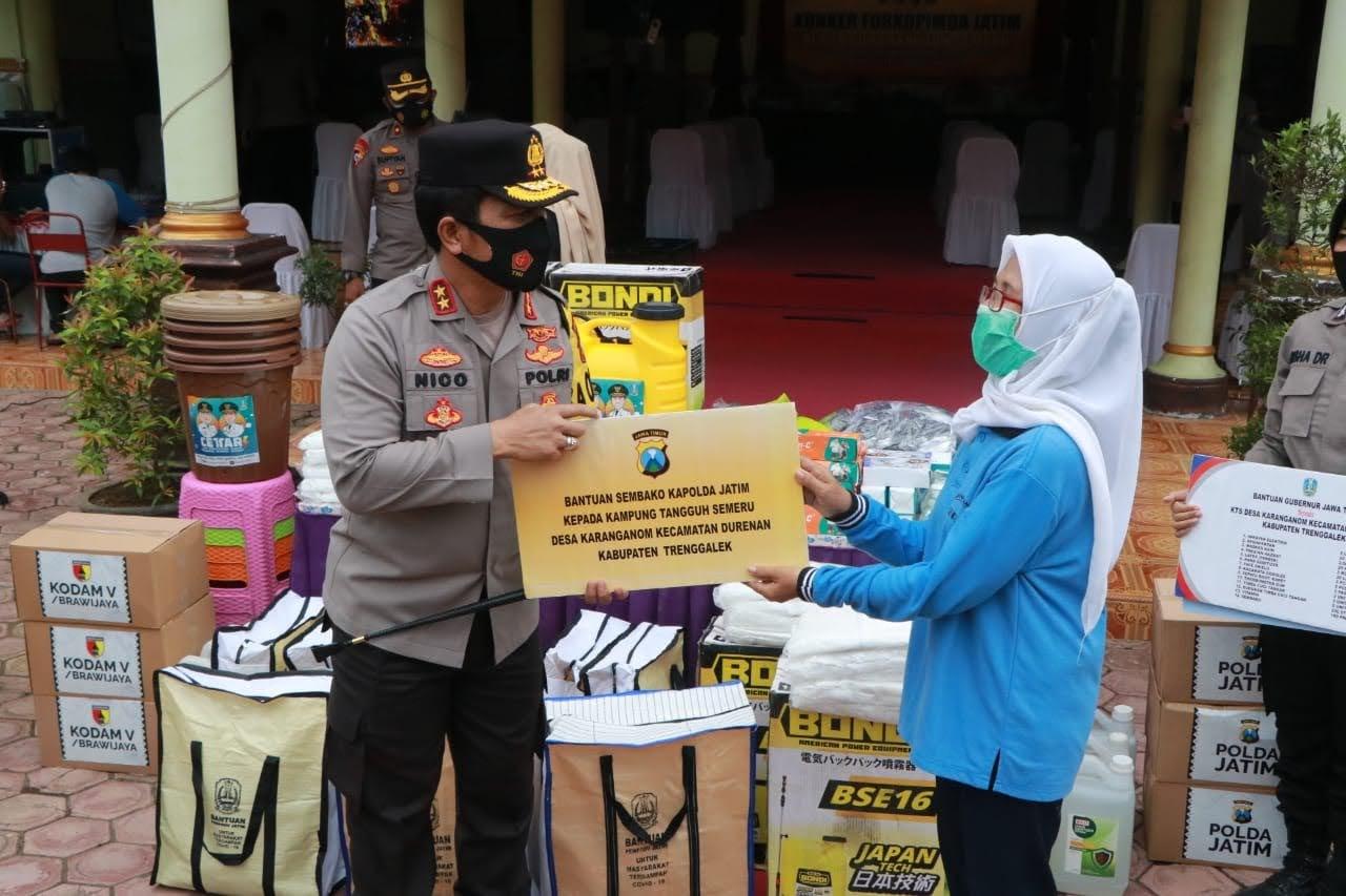 Forkopimda Jatim Berikan Dukungan Dalam Melawan Covid-19 Di Dua Kabupaten.