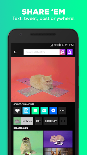 Screenshot 3 for GIPHY's Android app'