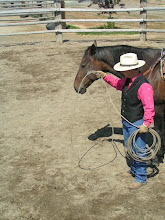 Photo: You will place the loop over your horse's head...politely!