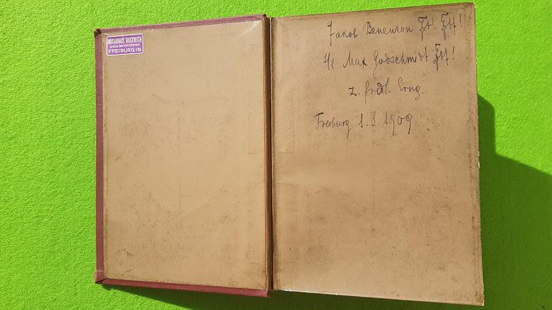Kommersbuch - Verein Jüdischer Studenten zu Breslau - 1900 - weiß-blau-gelb