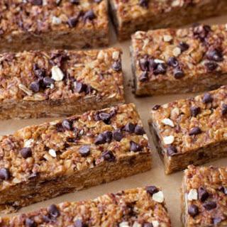 Healthy No-Bake Peanut Butter Chocolate Chip Granola Bars.