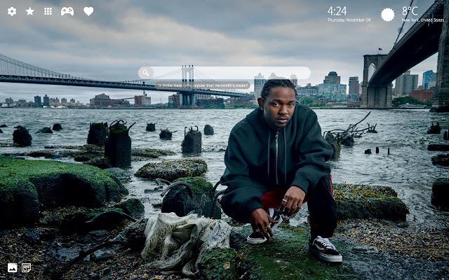Kendrick Lamar 4k Theme New Tab
