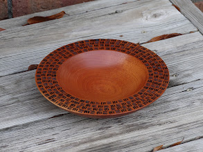 "Photo: Big Leaf Mahogany bowl (8.5"" diameter, 10/2015)"