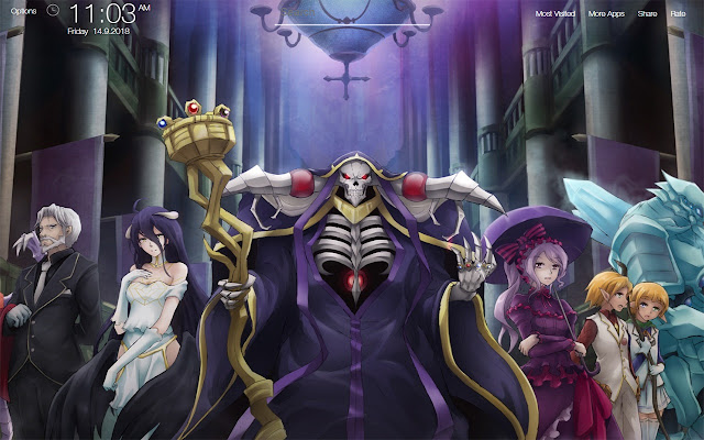 Overlord Anime Wallpapers FullHD New Tab