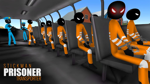 US Police Stickman Criminal Plane Transporter Game apktram screenshots 3