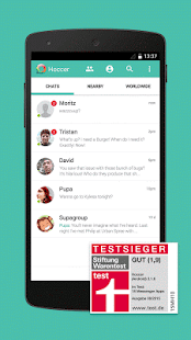 Hoccer – der sichere Messenger Screenshot