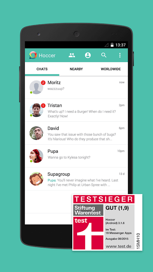 Hoccer – der sichere Messenger – Screenshot