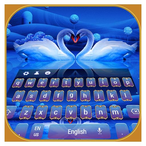 Swan Love blue Pure Lake Keyboard