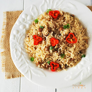 Jamaican Rice & Peas (Brown Rice)