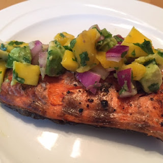 Grilled Wild Salmon with Mango Avocado Salsa