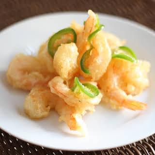 Shrimp with Honey Jalapeño Sauce.