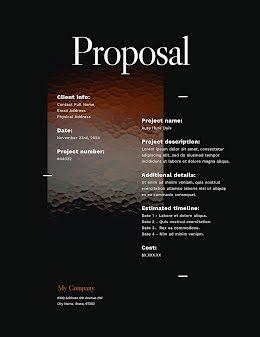 Stippled Proposal - Proposal item