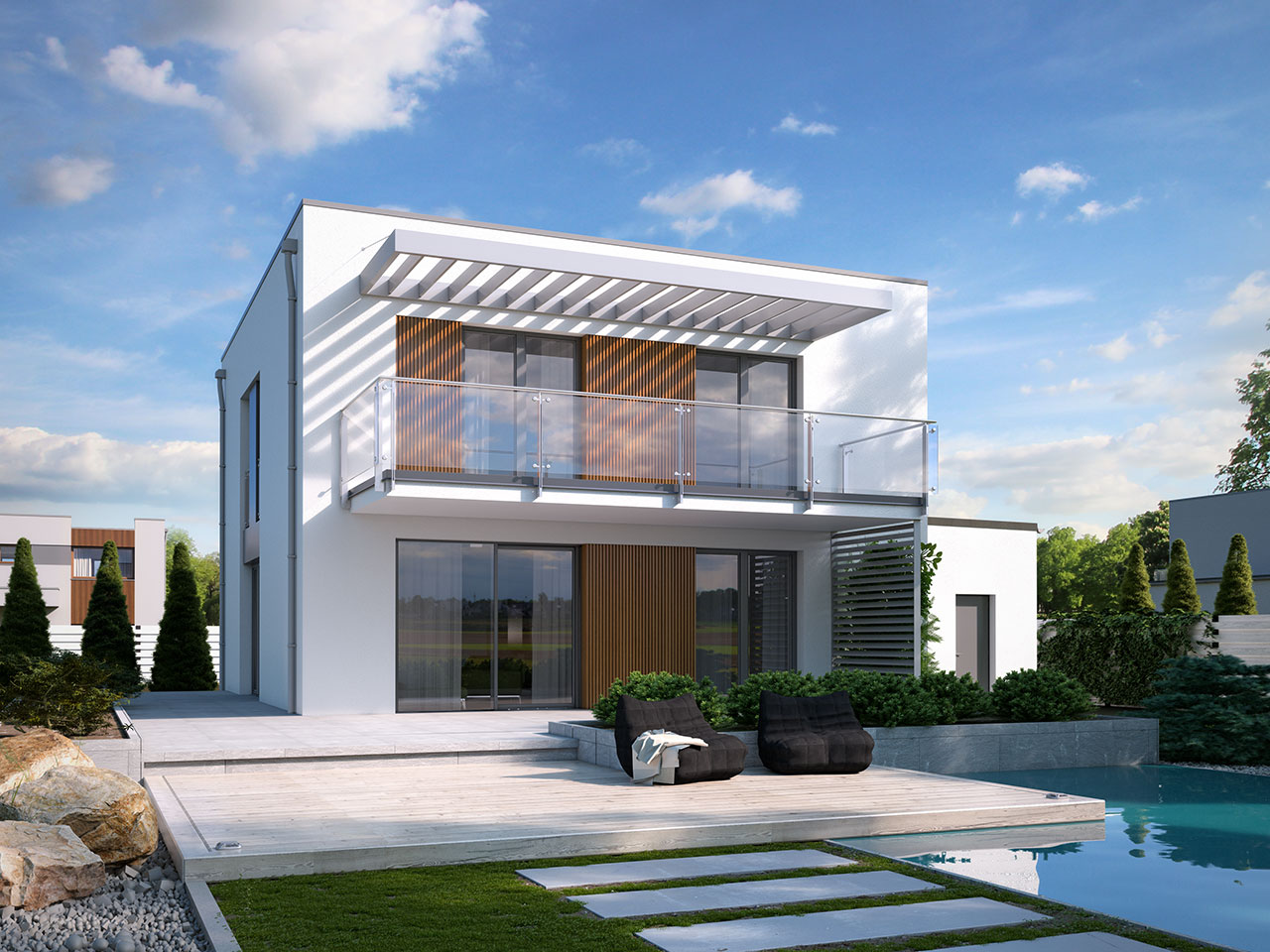 Luxury House Plans With Pools Projekt Domu Nowik Tuk 565 155 05m 178