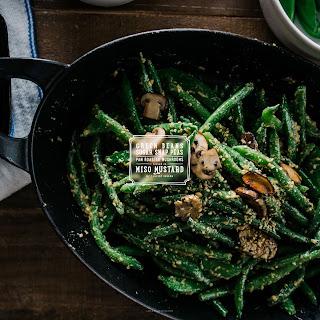 Miso Dijon Green Bean Mushroom Salad