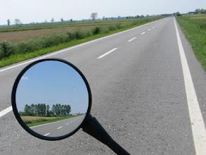 Photo: ... und über leere Straßen.