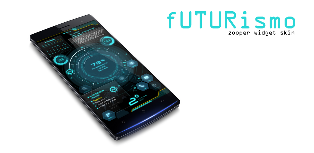 Futurismo Zooper Widget Skin 1 0 Apk Download - com vladikus