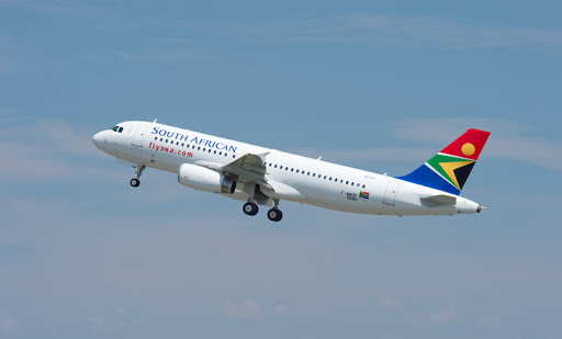 A South African Airways Airbus A320.