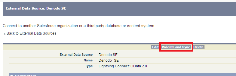 How to use Salesforce Connect to access Denodo